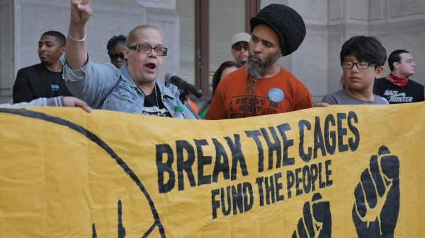 May Day Rally 2018 - Organized by the Coalition for a Just DA - Focused on ICE out of Philly and Decarceration - Break the Cages, Fund the People